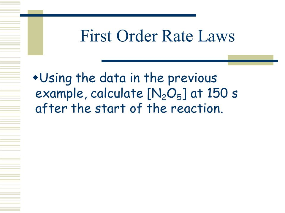 order of reaction rate law essay